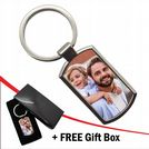 Personalised PHOTO Metal Keyring with FREE giftbox